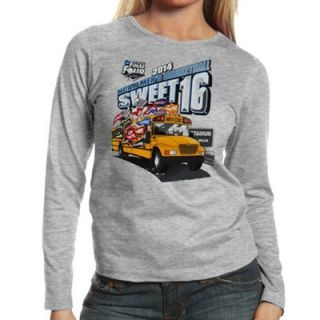 2014 NCAA Mens Basketball Tournament Sweet 16 Ladies Ends Here Texas (The Bus) Long Sleeve T Shirt   Gray