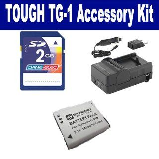Olympus Tough TG 1 Digital Camera Accessory Kit includes: KSD2GB Memory Card, SDM 192 Charger, SDLI90B Battery : Camera & Photo