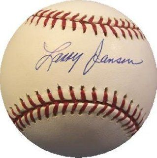 Larry Jansen Autographed Baseball   Sports Memorabilia: Sports Collectibles