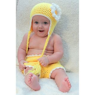 Sugarbaby Sunshine Sunflower   Set de calzoncito para pa�al y gorro, tejido a crochet, dise�o de girasol Sugarbaby Wear Girls Matching Sets