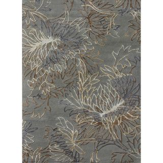 Hand tufted Jackson Blue Wool Rug (7'10 x 11'0) Alexander Home 7x9   10x14 Rugs