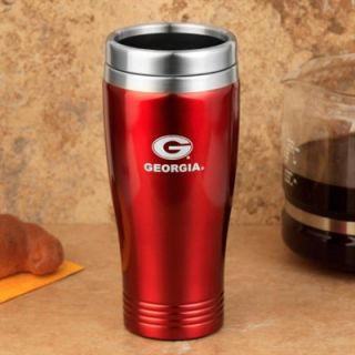 Georgia Bulldogs 24 oz. Stainless Steel Travel Tumbler   Red