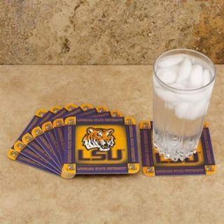 LSU Tigers 8 Pack Absorbent PaperKraft Coasters
