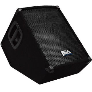 "Seismic Audio   SA 10MT PW   Powered 2 Way 10"" Floor / Stage Monitor Wedge Style with Titanium Horn   250 Watts RMS   PA/DJ Stage, Studio, Live Sound Active 10 Inch Monitor: Musical Instruments"