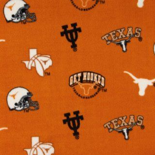 Collegiate Fleece University of Texas Tossed Fabric