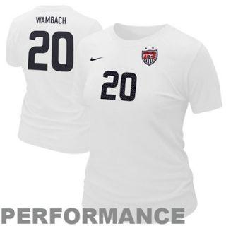 Nike Abby Wambach USA Ladies Hero Performance T Shirt   White