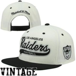 083e1d4b066 ... Mitchell   Ness Oakland Raiders Throwback Script Tailsweeper Snapback  Adjustable Hat Black Natural ...
