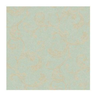 York Wallcoverings RG4919 Fresco Velvet Scroll Wallpaper, Moss Green/Pearlescent Tan/Matte Tan: Home Improvement