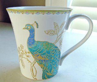 222 Fifth Peacock Garden Coffee Mugs, Set of 4 Kitchen & Dining