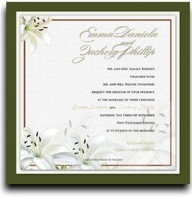 225 Square Wedding Invitations   Flower Affair : Party Invitations : Office Products