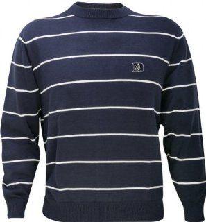 Duke Blue Devils Spaced Striped Crewneck Sweater  Sports Fan Sweaters  Sports & Outdoors