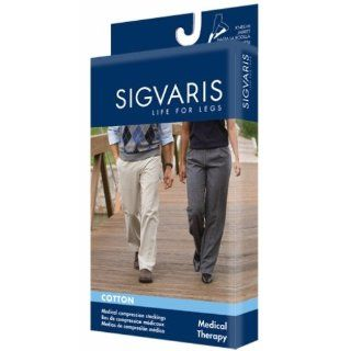 Sigvaris 232 Cotton Knee High Open Toe Socks, 20 30mmHg: Health & Personal Care