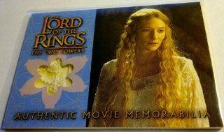 Lord of the Rings the Two Towers Authentic Movie Memorabilia Cards Galadriel's Silk Chiffon : Other Products : Everything Else