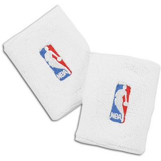 For Bare Feet NBA Wristbands   Basketball   Accessories   NBA League Gear   White