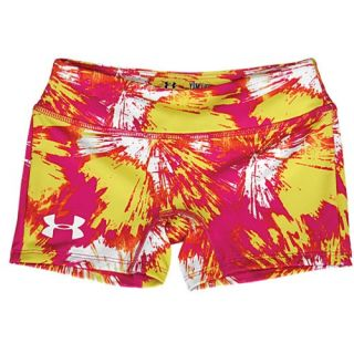 Under Armour Heatgear Sonic 3 Shorts   Girls Grade School   Training   Clothing   Tropic Pink/White