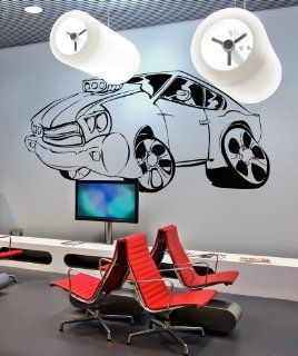 Vinyl Wall Decal Sticker Muscle Car 36inX72in item JH233B   Wall Decor Stickers