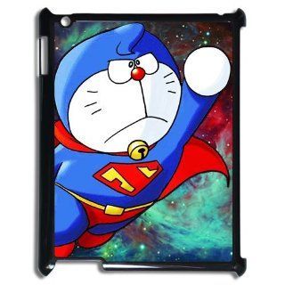 Classic Cartoon&Anime Doraemon with Superman Style iPad 2/3/4 Case Cover: Cell Phones & Accessories