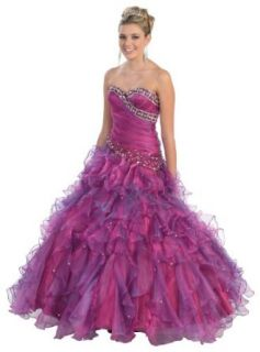 Special Sale!!! Ball Gown Strapless Beaded Formal Prom Wedding Dress #234: Clothing