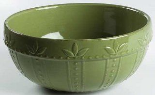 "Signature Sorrento Oregano (Green) 7"" Mixing Bowl, Fine China Dinnerware"