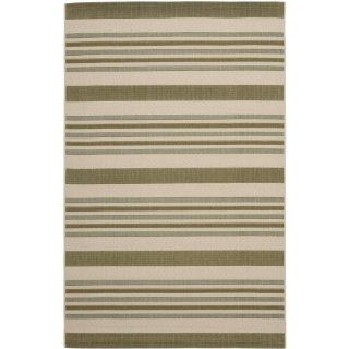 Safavieh CY7062 234A18 Courtyard Collection Indoor/Outdoor Area Rug, 5 Feet 3 Inch by 7 Feet 7 Inch, Beige and Green