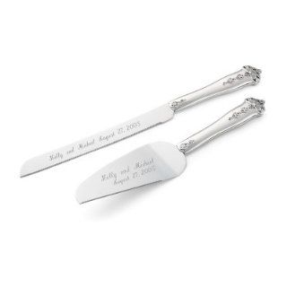 Anastasia Personalized Wedding Cake Servers: Kitchen & Dining