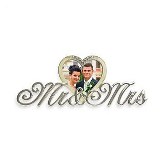 Buy Prinz Mr & Mrs 3 Inch x 3 Inch Heart Shaped Metal Frame from
