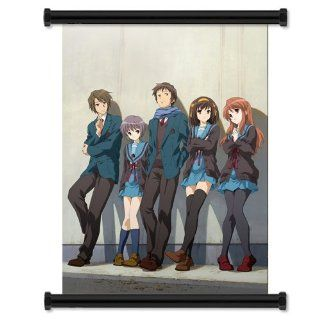 "Disappearance of Haruhi Suzumiya Anime Fabric Wall Scroll Poster (16""x21"") Inches: Everything Else"