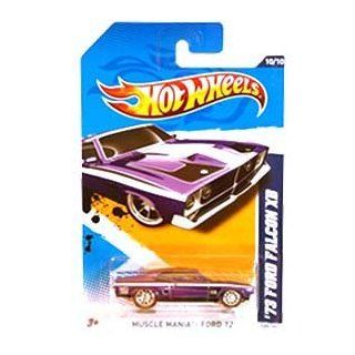 Hot Wheels Super Treasure Hunt   '73 Ford Falcon XB (Purple w/White Stripes), Red Line Tires   Muscle Mania, Ford '12   10/10 ~ 120/247 [Scale 1:64]: Toys & Games