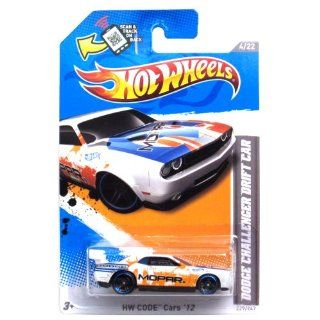 Hot Wheels White Orange/blue Trim Dodge Challenger Drift Car 2012 Hw Code 4/22 229/247: Toys & Games