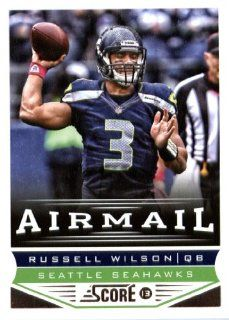 2013 Score NFL Football Trading Card # 249 Russell Wilson Air Mail Seattle Seahawks: Sports Collectibles