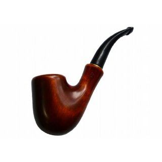"New Ukrainian Pear Wood Hand Carved Tobacco Smoking Pipe ""Saxophone"" Classic + Pouch + Cleaning Tools + Gift: Everything Else"