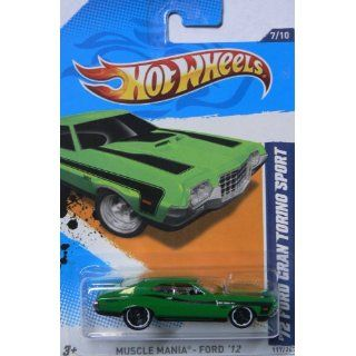 Hot Wheels Yellow Black Trim 72 1972 Ford Gran Torino Sport Muscle Mania Ford 2012 7 of 10 117/247: Toys & Games