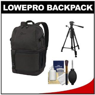Lowepro DSLR Video Fastpack 250 AW Digital SLR Camera Backpack Case (Black) with Tripod + Cleaning Kit for Canon EOS 70D, 6D, 5D Mark III, Rebel T3, T5i, SL1, Nikon D3100, D3200, D5200, D7100, D600, D800, Sony Alpha A65, A77, A99 : Digital Slr Camera Bundl