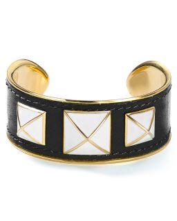 Rebecca Minkoff Small Enamel Stud & Leather Bracelet's