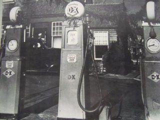 Copy of Sepia Print of three Diamond D X Gas pumps 256: Everything Else