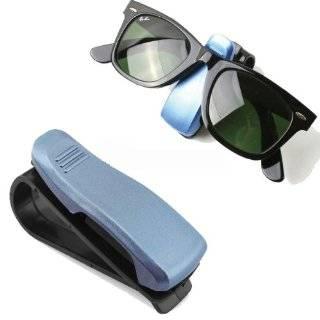1Pcs Interior Blue Plastic Car Sun Visor Sunglasses Glasses Clip Holder New Automotive