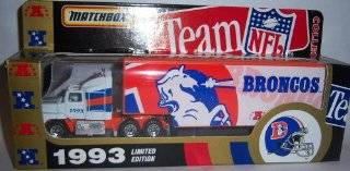 Denver Broncos 1993 Ford Aeromax Tractor Trailer NFL Diecast Matchbox Truck Car Collectible : Sports Fan Toy Vehicles : Sports & Outdoors