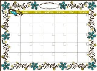 Wall Pops WPE96833 Dry Erase Peel & Stick Dry Erase Monthly Calendar, Anya   Decorative Wall Appliques