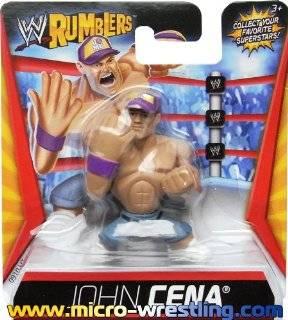 WWE Wrestling Rumblers Mini Figure John Cena Purple Hat Toys & Games