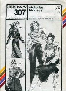 Stretch & Sew Pattern 307 ~ Victorian Blouses ~ Bust 28 44: Ann Person: Arts, Crafts & Sewing