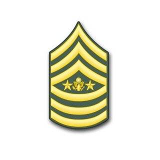 """U.S. Army Sergeant Major of the Army Rank Insignia vinyl transfer decal sticker 3.8"""" 6 Pack"""