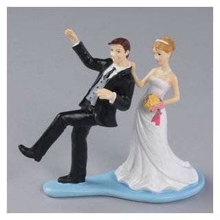 "4"" ~ Resin ~ Reluctant Groom Figure ~ Designer Wedding Cake Topper ~ LOOK"