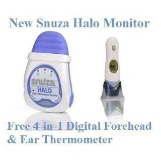 Snuza HALO Infant Breathing Movement Baby Monitor + Free 4 in 1 Forehead & Ear Baby Thermometer: Baby
