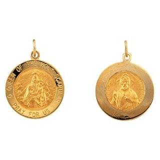 14K Yellow Gold Scapular Medal Charm Pendant: Reeve and Knight: Jewelry