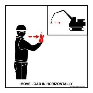Move Load In Horizontally Label CRANE 434 Crane Hand Signals : Business And Store Signs : Office Products