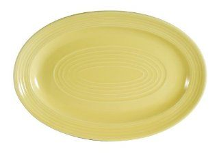 CAC China TG 34SFL Tango Sunflower Porcelain Oval Platter, 9 5/8 Inch by 6 1/2 Inch, Box of 24: Kitchen & Dining