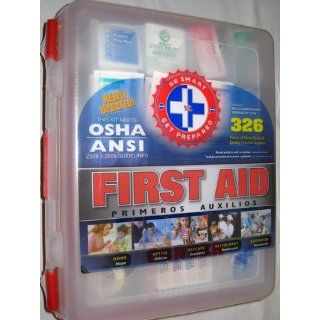 First Aid Kit With Hard Case  326 pcs  First Aid Complete Care Kit   Exceeds OSHA & ANSI Guidelines   Ideal for the Workplace   Disaster Preparedness (Colors May Vary): Health & Personal Care
