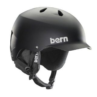 Bern Unlimited Watts EPS Matte Finish Snow Helmet with Black Knit: Sports & Outdoors