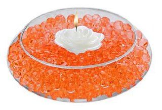 Water Pearls ORANGE 8oz Pack Centerpiece Wedding Tower Vase Filler makes 6 gallons: Everything Else