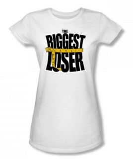 The Biggest Loser   Biggest Loser Logo Juniors T Shirt In White: Clothing